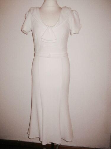 40's dress replica #elastic white jersey Fabric # unworn # size L/EU 40/42