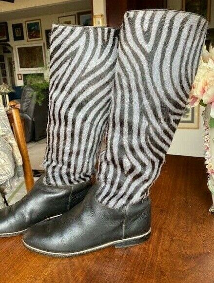 Vintage Maud Frizon Zebra Design Boots - image 4