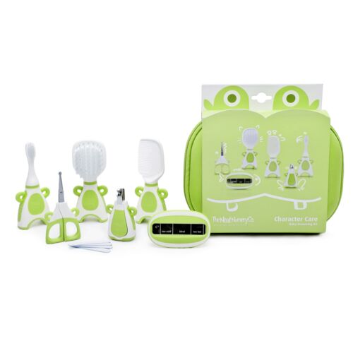 Baby Hair Brush//Nail Clippers//Toothbrush Grooming Kit Green The Neat Nursery Co