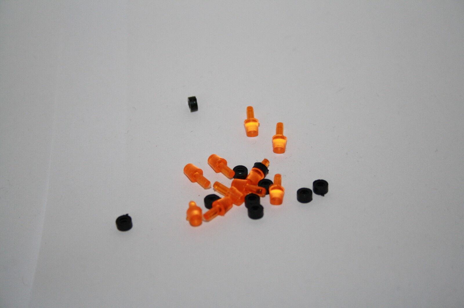 Gyrophare Orange 1 43 bases noires pompier tp militaire beacon light camion