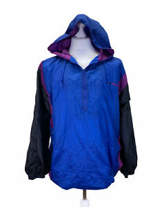Pro-Spirit-Shell-Suit-Lined-Hooded-Hoodie-Size-Large-Black-Purple-Blue-Colour