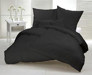 Bettwasche 155x220 Schwarz ~ Biber bettwäsche schwarz uni cm flanell baumwolle warm