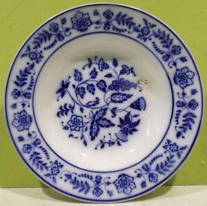 Wachtersbach-Deep-Plate-034-Blue-Ziebelmuster-034-Base-Mark-Stamp-1894-1906