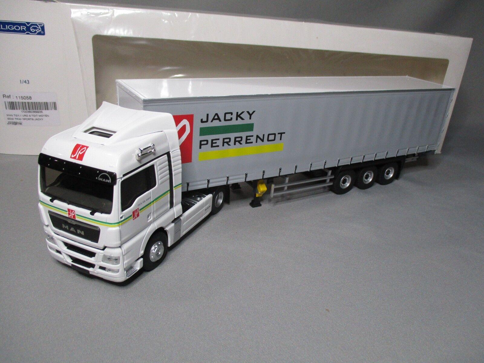 DV7755 ELIGOR 1 43 MAN TGX EURO S TAUTLINER TRANSPORTS JACKY PERRENOT 115058