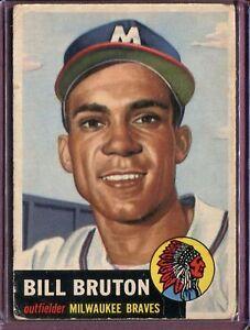 1953-Topps-214-Bill-Bruton-RC-POOR-D126233
