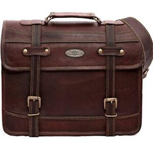 467a0b9d5e3a Image is loading 15-034-Leather-Messenger-Bag-Computer-Distressed-Brown-