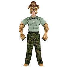 OFFICIALLY LICENSED CHESTY THE MARINES MASCOT ADULT HALLOWEEN COSTUME STANDARD