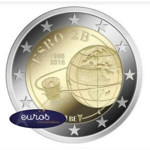 Piece-2-euros-commemorative-BELGIQUE-2018-ESRO-2B-Premier-Satellite-Europeen