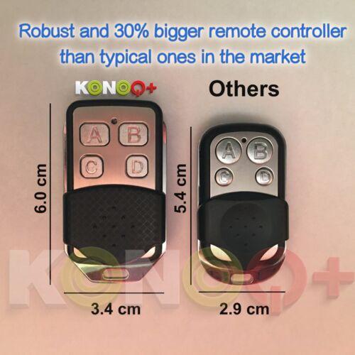 Luxe Verre Panneau Tactile DEL Interrupteur de lumière: Remote on//off Konoq 1 Gang//1Way Or