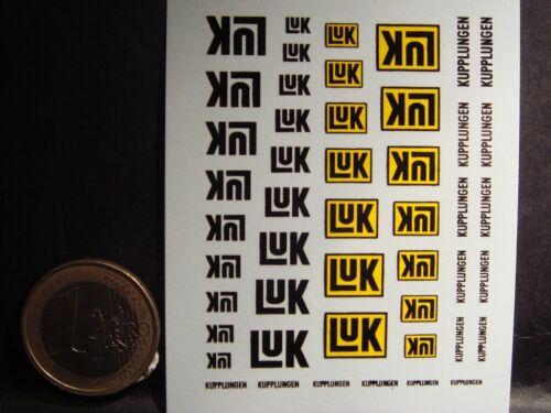 DECALS 1/43 - LOGOS ÉQUIPEMENTIER LUK  - T278
