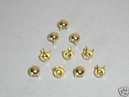 100 Ziernieten Nieten 5 mm Farbe gold Krallennietem