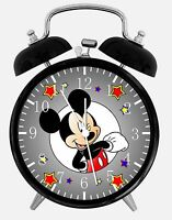 Mickey Mouse Alarm Desk Clock 3.75 Room Decor E110 Nice For Gifts, A+ Quality