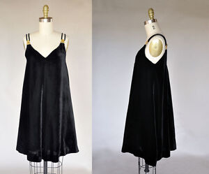 bd99b02c1ac847 Image is loading Vintage-60s-1960s-CHRISTIAN-DIOR-Black-Velvet-Sleeveless-