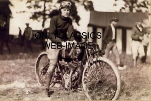 1948 FLOYD EMDE-SAN DIEGO CA INDIAN MOTORCYCLE RACING DAYTONA RACE WINNER PHOTO