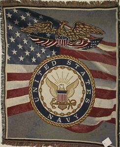 U S Navy Tpm910 Tapestry Throw Blanket Made In Usa 100 Cotton