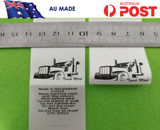 Customised Print Satin clothing labels care labels - AU made, fast services