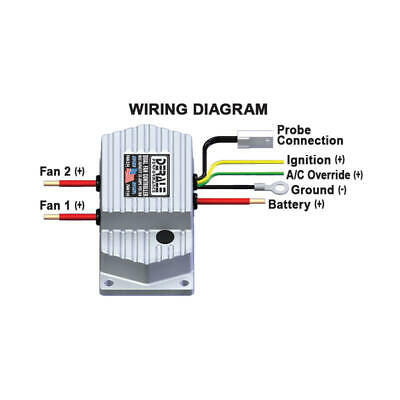 adjustable electric fan wiring diagram derale engine cooling fan controller 16788  150 to 240   f  derale engine cooling fan controller