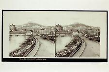Naples Napoli Italie Italia Photo Plaque stéréo par Lachenal & Favre ca 1865