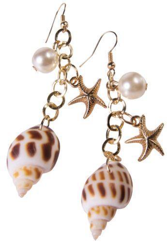 Ladies Shell STELLA MARINA Dettaglio Orecchini Pendenti Sirena Costume Vestito