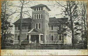 Islip-Long-Island-NY-1907-Postcard-High-School-Building-New-York