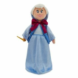 Disney-Store-Cinderella-Fairy-Godmother-Soft-Face-Plush-Doll-New-with-Tags