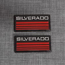For Chevy Silverado 88 98 Side Roof Pillar Cab Pickup Badge Emblem Logo 2pcs