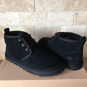 7e6b97b9362 Details about UGG Neumel Black Suede Sheepskin Ankle Boots Booties Shoes  Size US 11 Womens