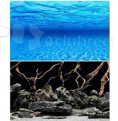 Seaview Deep Sea Blue//Black 18in Aquarium Double-sided Background BGBB-18