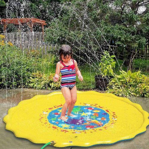 Sprinkler Splash Pad Play Mat Center Toddler Pool Water Toy Outdoor Fun Ring 66