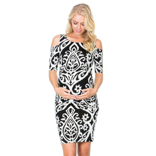 Women/'s Pregnant Maternity Floral Dress Ladies Casual Party Photography Dresses