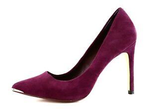 16d1c3bb776b Ted Baker Neevo Pointed Toe Suede Pump Purple Women Sz 37.5 4801