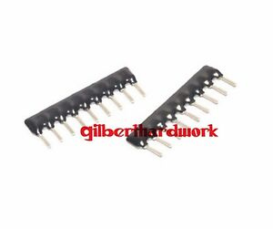 50pcs-9P-Network-Resistor-Array-A09-221-220-Ohm-220R-A221-2-54MM-Pin-SIP-9