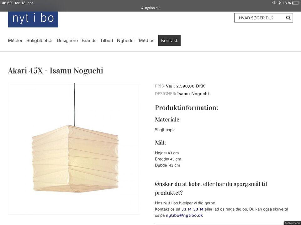 Anden loftslampe, Isamu Noguchi Akari