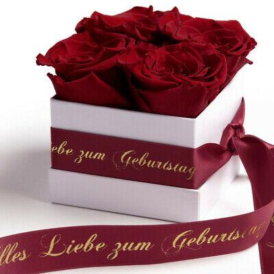 Rosenbox Infinity Rosen Happy Birthday Geburtstagsgeschenk Frauen Freundin Mama
