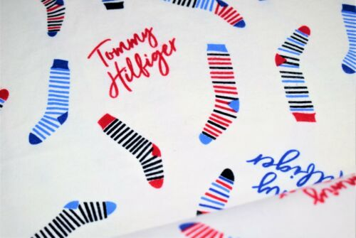 Soft Brushed Flannel 100/% Cotton Tommy Hilfiger Socks Print Fabric,High Quality