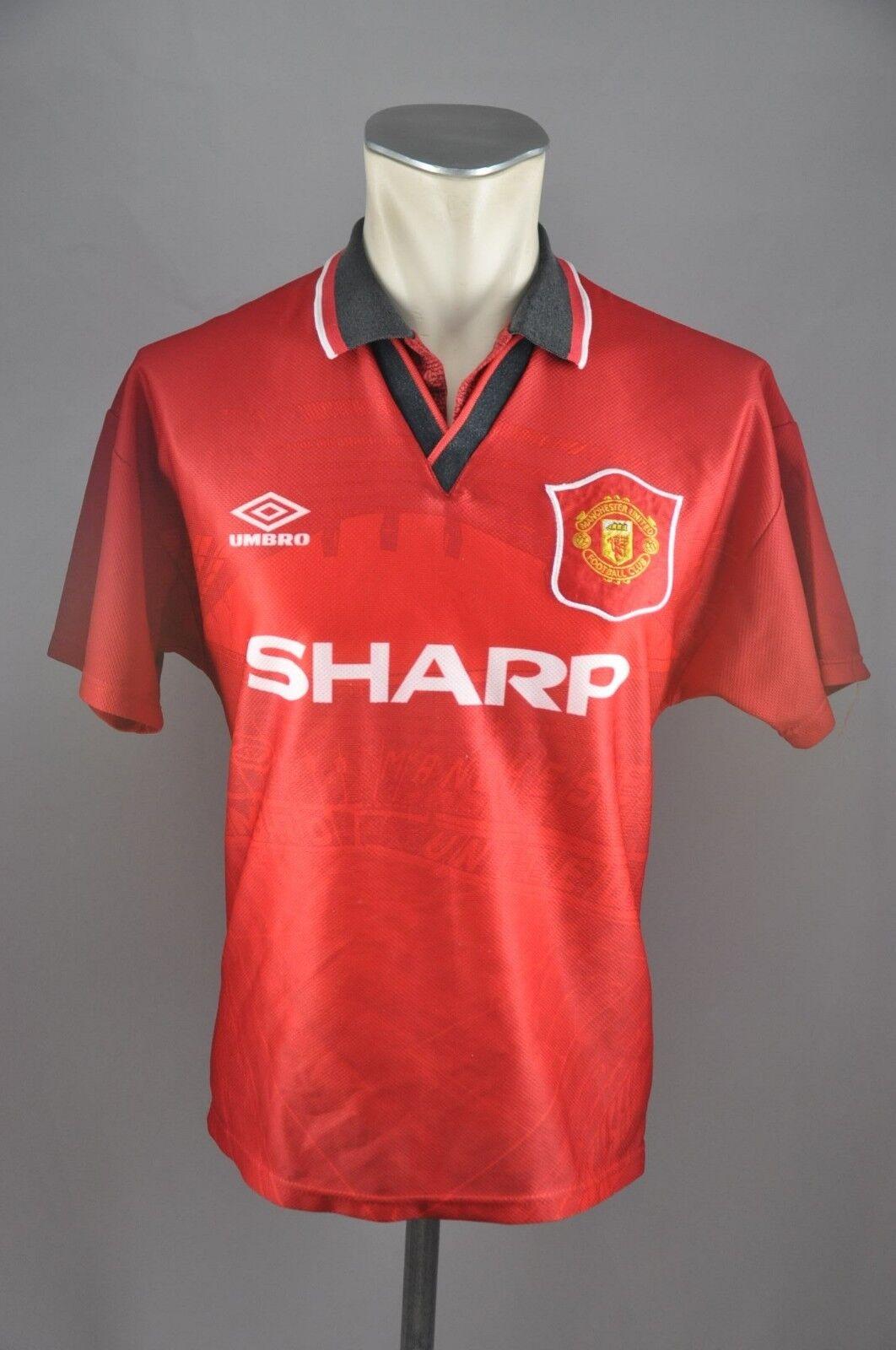 Manchester United Trikot 1994 Gr. S Umbro Jersey Sharp vintage 90s vintage 90er