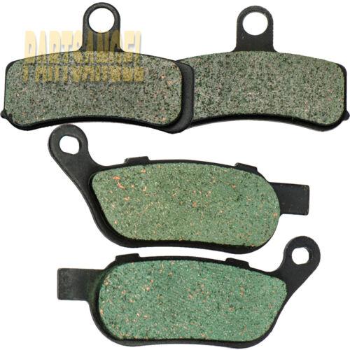 Front Rear Carbon Brake Pads For HARLEY FXDWG Dyna Wide Glide FXDC Super