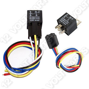 12v 12 volt 30 40a spdt 5 pin automotive relay with wire socket rh ebay com 12 volt wiring harness 1949 ford f1 12 volt wiring harness 1949 ford f1