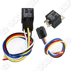 12v 12 volt 30 40a spdt 5 pin automotive relay with wire socket rh ebay com 10-Pin Wire Harness 12 Volt Custom Wire Harness Assembly