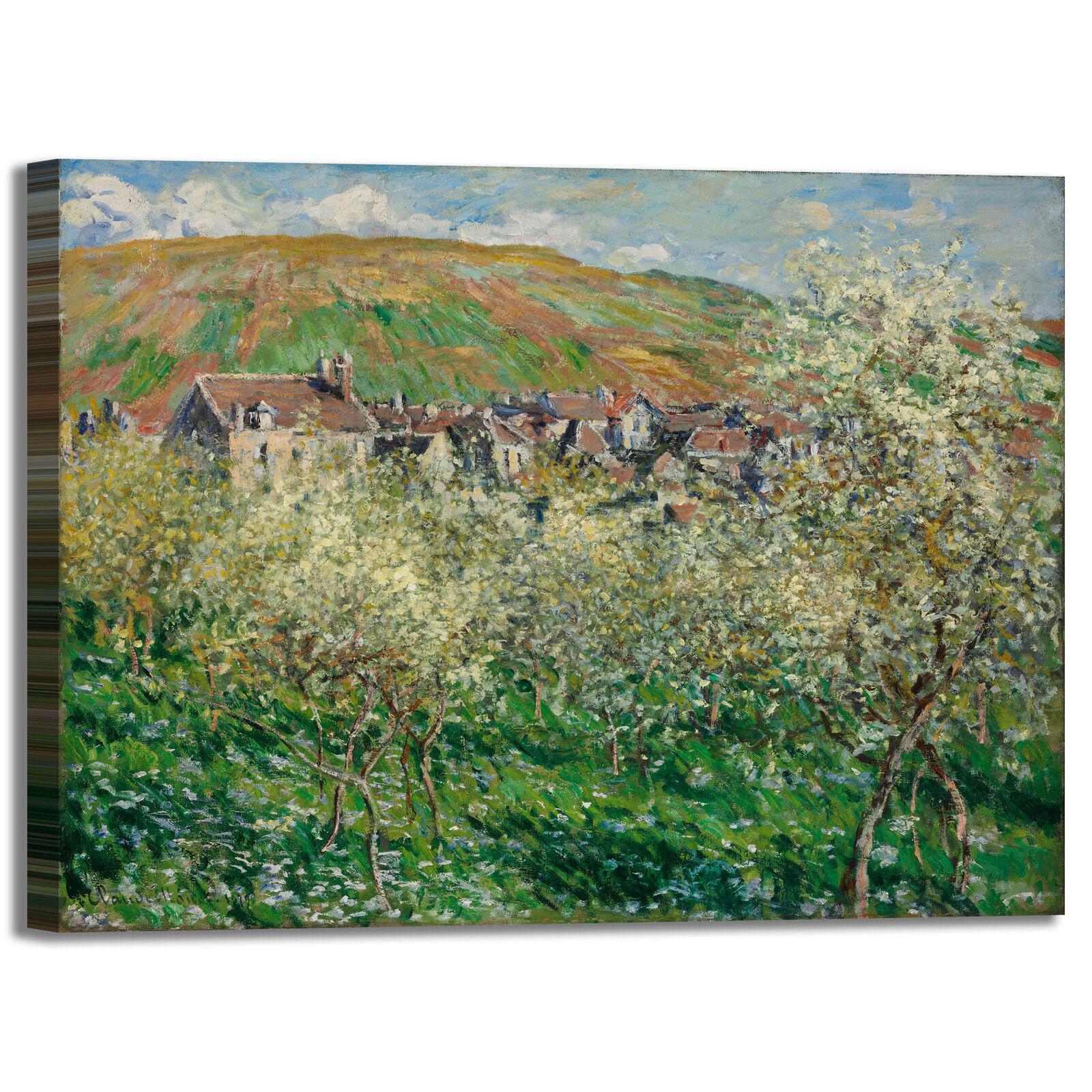 Monet fioritura susini design quadro stampa tela dipinto telaio arroto casa