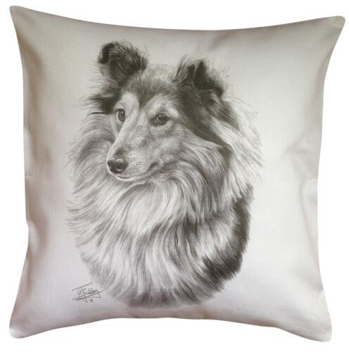 Perfect Gift Shetland Sheepdog Sheltie MS Breed of Dog Cotton Cushion Cover