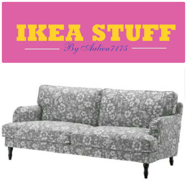 "Ikea STOCKSUND Sofa (3 Seat 78 3/8"") Cover Slipcover REMVALLEN BLUE/WHITE  for sale 