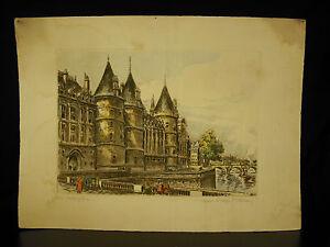 La-Conciergerie-palais-de-la-Cite-epreuve-d-039-artiste-signee-par-Marcel-Bessan