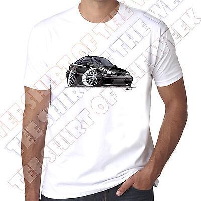WickedArtz Cartoon Car Black Vauxhall Calibra Mens 100/% Cotton White T-Shirt
