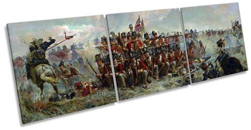 Elizabeth Thompson 28th régiment at Quatre Bras Canvas Wall Art Triple Print
