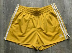 RARE-ADIDAS-Trefoil-Womens-Shorts-Size-Medium-Corn-Yellow
