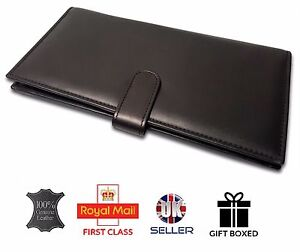 de772cc78bbd Details about GENUINE LEATHER Soft LUXURY Travel Organiser 2 PASSPORT  HOLDER cover case wallet
