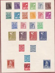 P33-ALLEMAGNE-Petite-collection-sur-charnieres-26-Timbres-Neufs