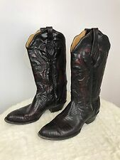 Corral Oxblood Authentic Lizard Skin Cowboy Boots Cordovan Leather Sole Cowgirl