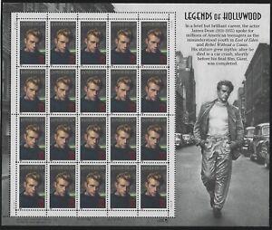 US-MNH-Stamps-Scott-3082-1996-James-Dean-Legends-of-Hollywood-Sheet-M